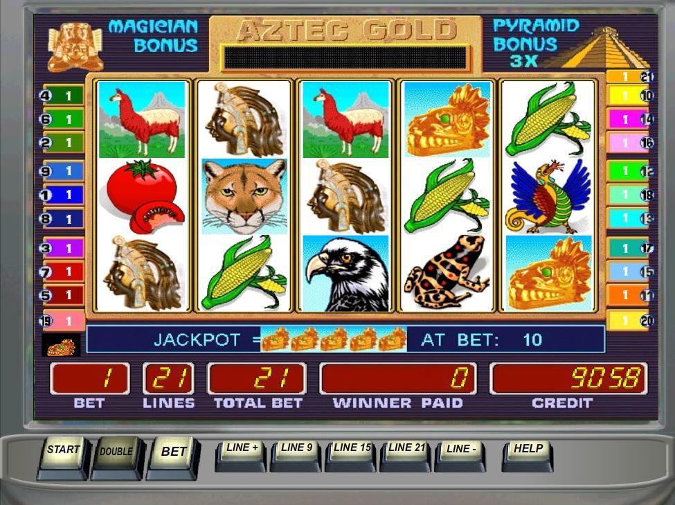 Игровой автомат Aztec Gold Золото ацтеков играть.
