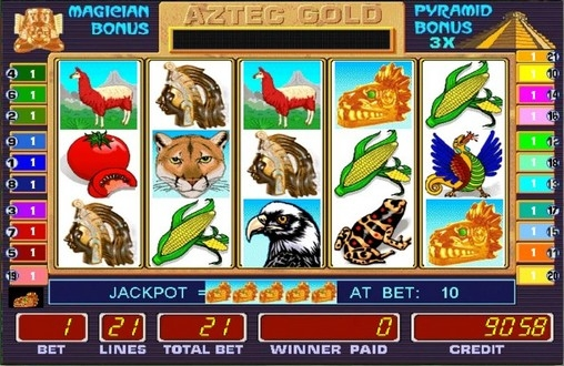 Игровой автомат Aztec Gold Золото ацтеков играть бесплатно.