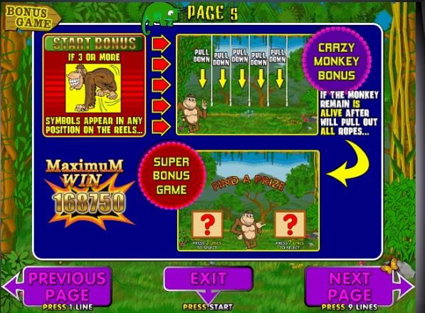 Игровые автоматы Обезьянки Крейзи Манки бесплатно и без.